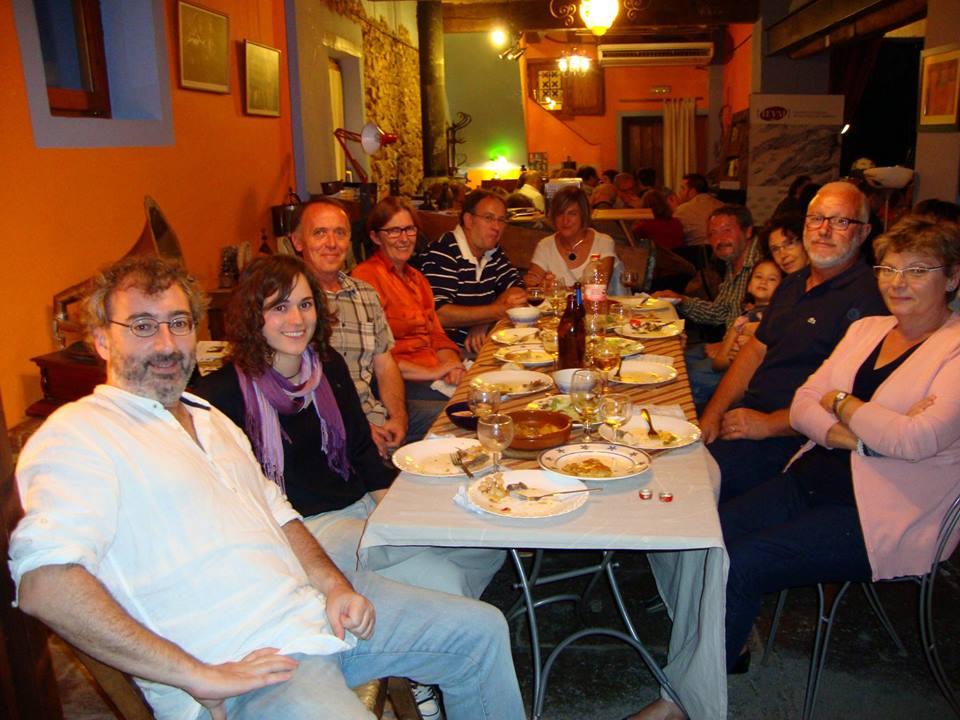 Sopar Estellés. La Rata Cellarda, Beneixama, 28 de setembre de 2013.