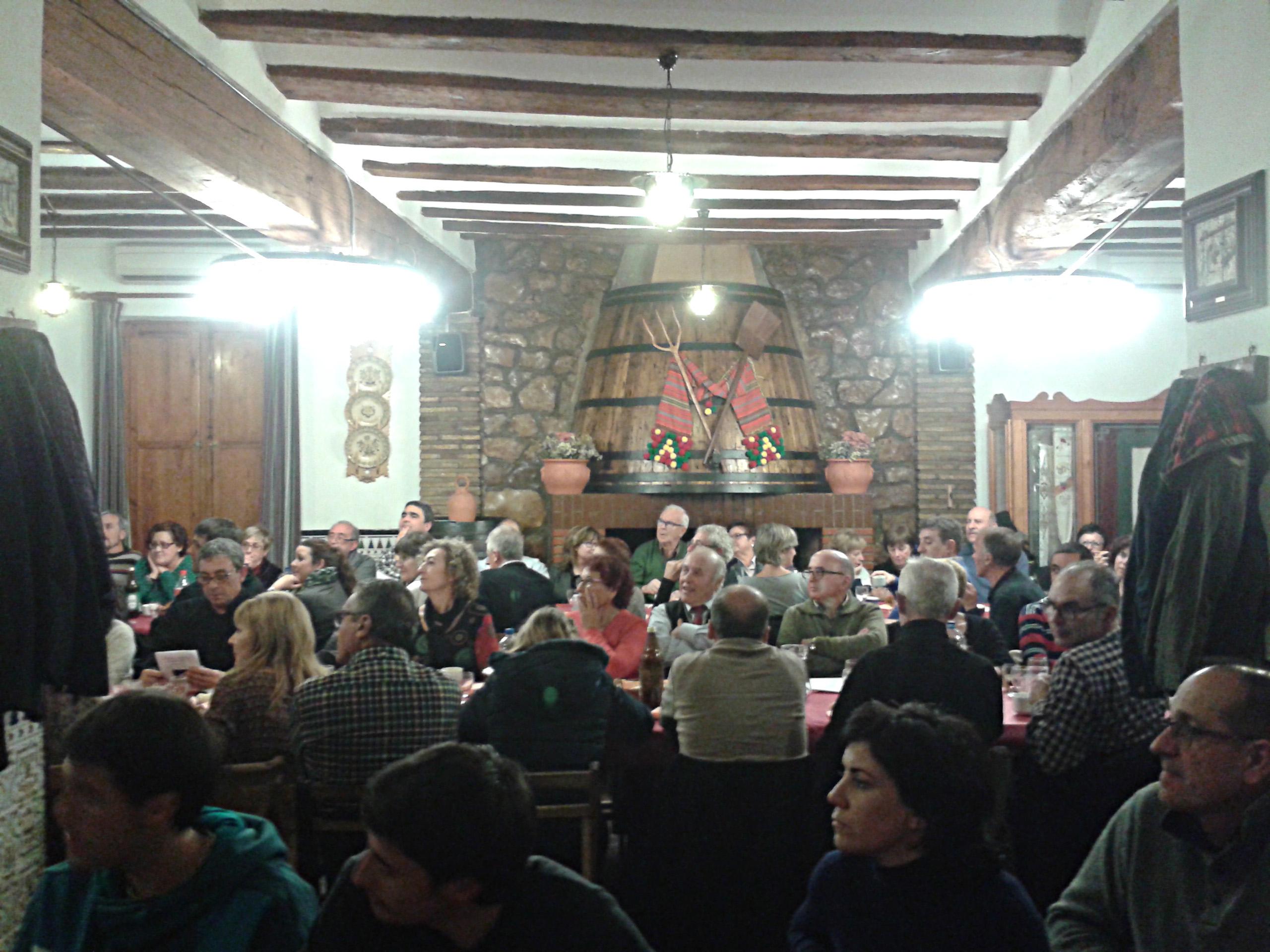 Sopar Ovidi Montllor. Maset dels Llauradors, Beneixama, 5 de desembre de 2016.