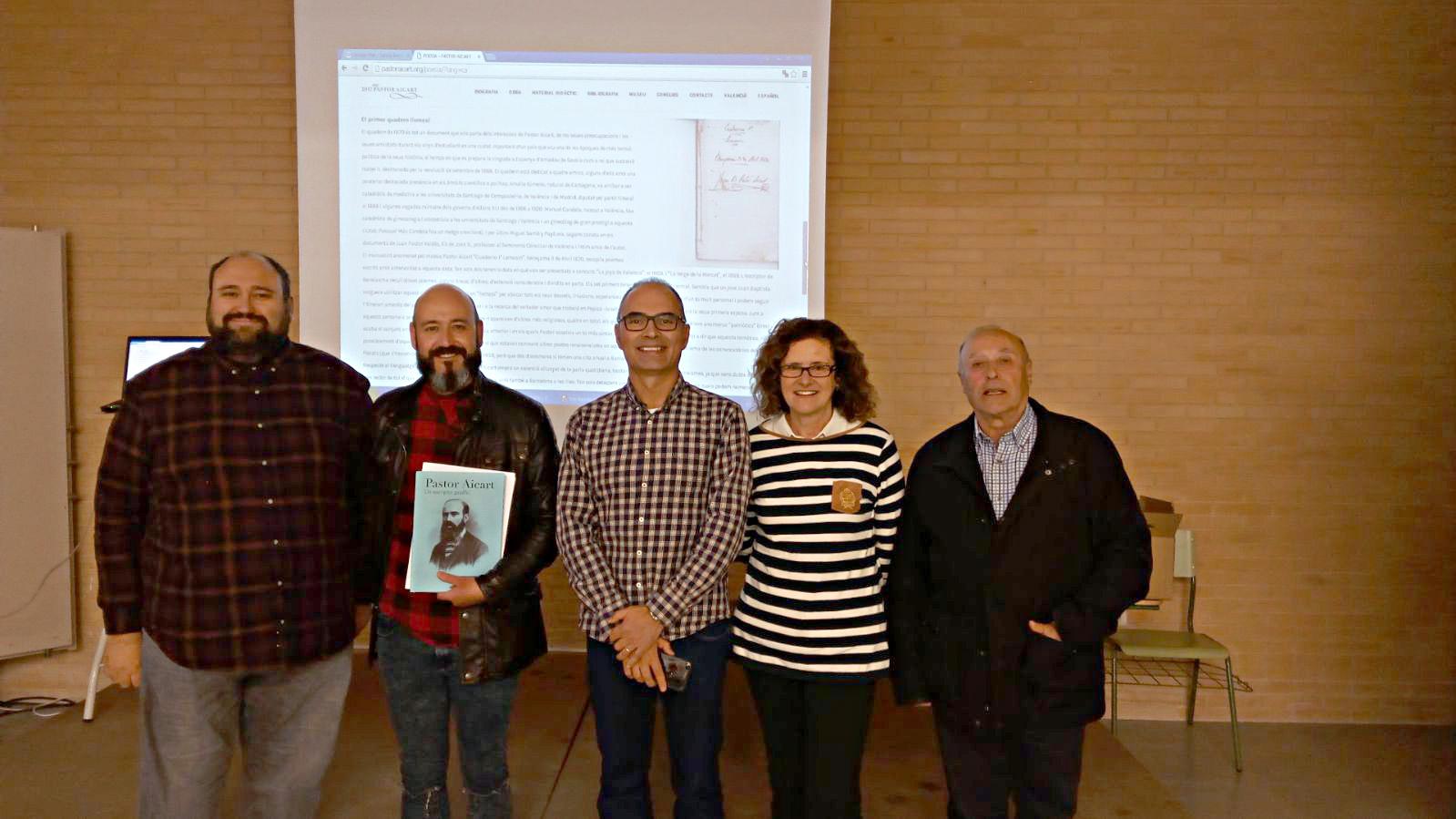 Presentació de la unitat didàctica sobre Pastor Aicart. IES Biar, 23 de novembre de 2017.