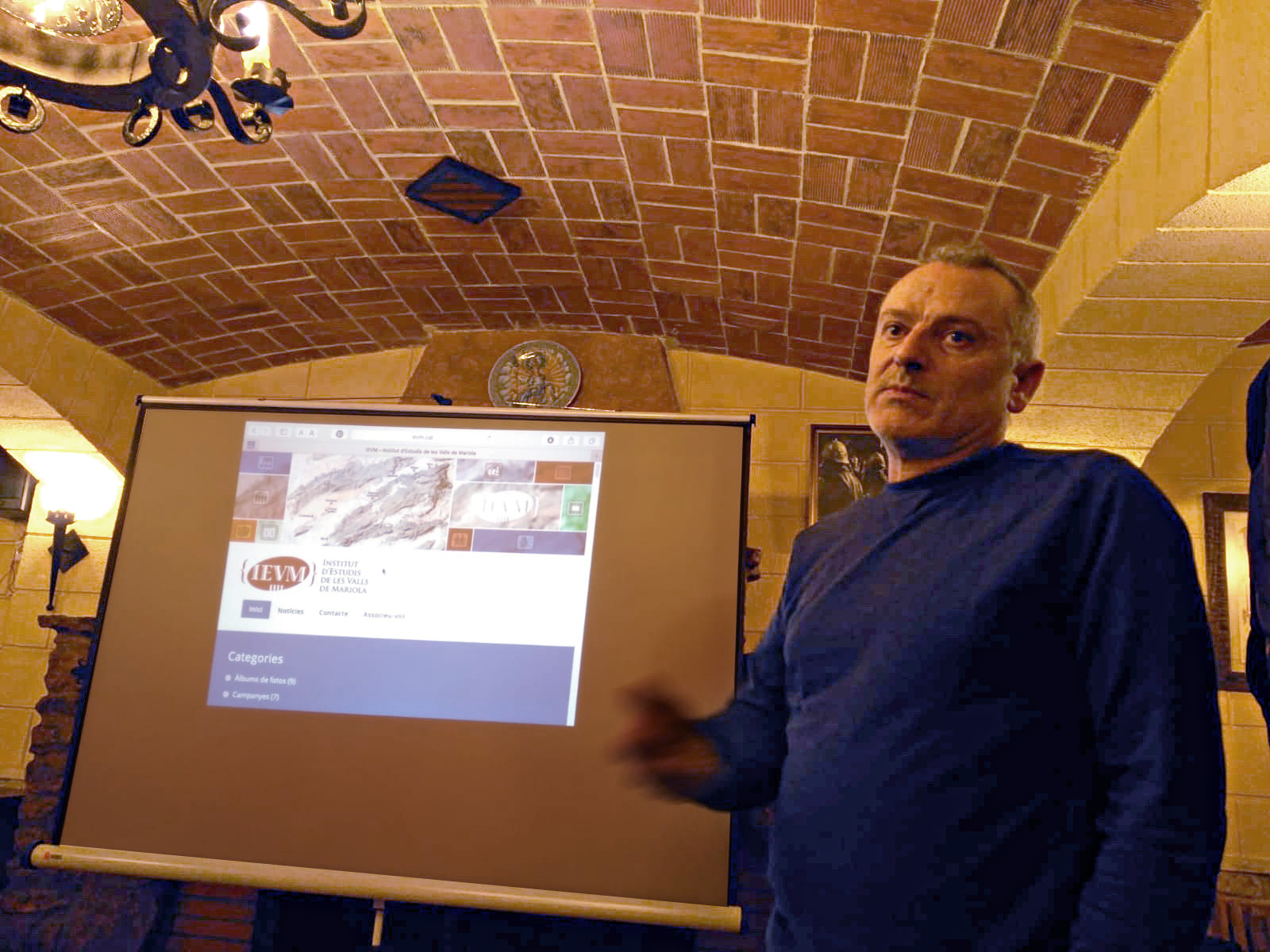 Sopar sobre els 600 anys de la Generalitat Valenciana. Maset dels Cristians, Beneixama, 29 de desembre del 2018.